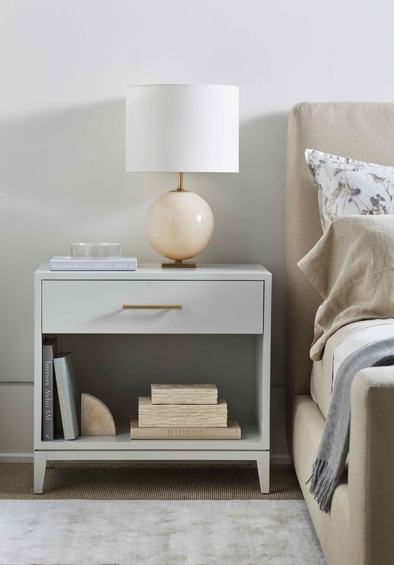 35 bedside table to decorate your home life Practical and beautiful bedside tabl…