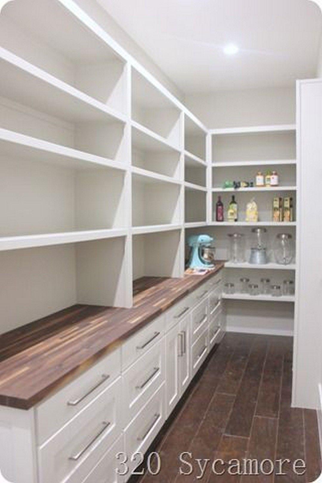 38 DIY Farmhouse Pantry Shelves