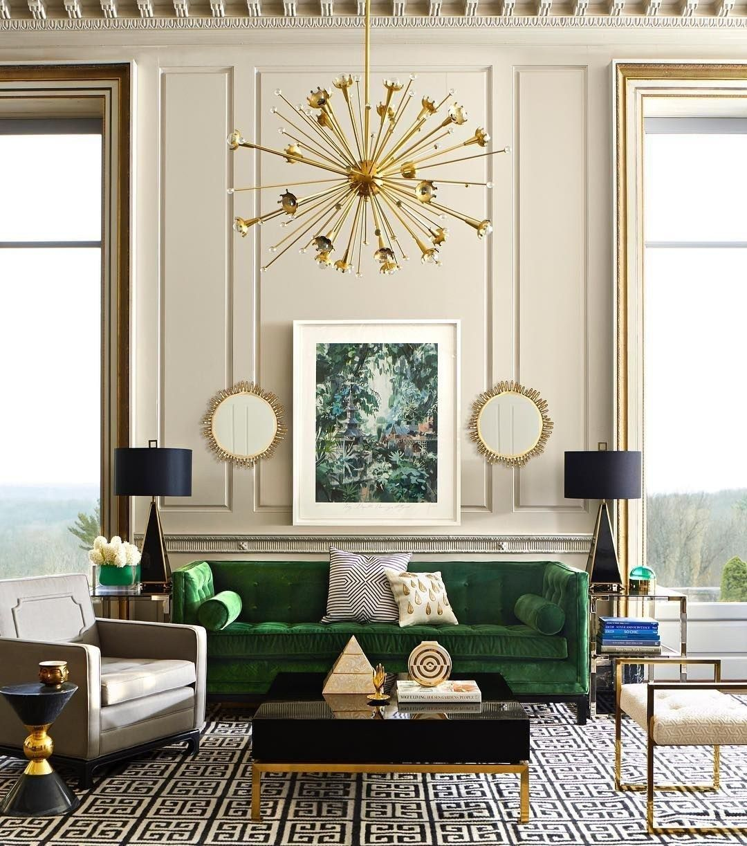 38 GREEN VELVET SOFA DESIGN IDEAS TO MAKEOVER YOUR LIVING ROOM – Page 24 of 38 -…