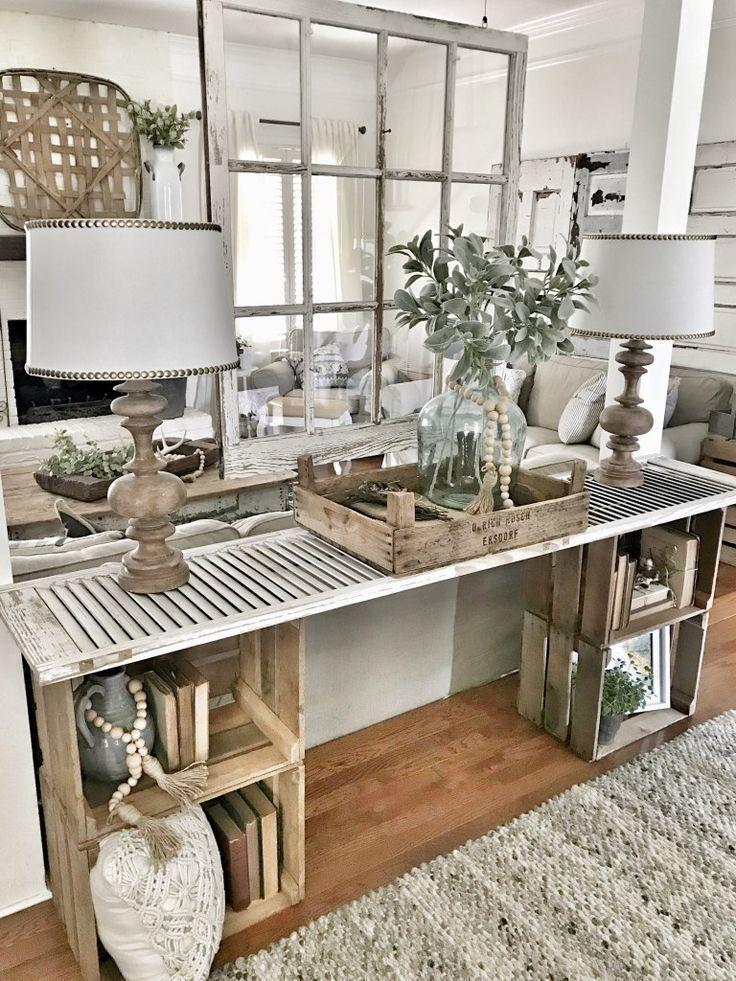 40 Beautiful Farmhouse Living Room Decor Ideas – ZYHOMY