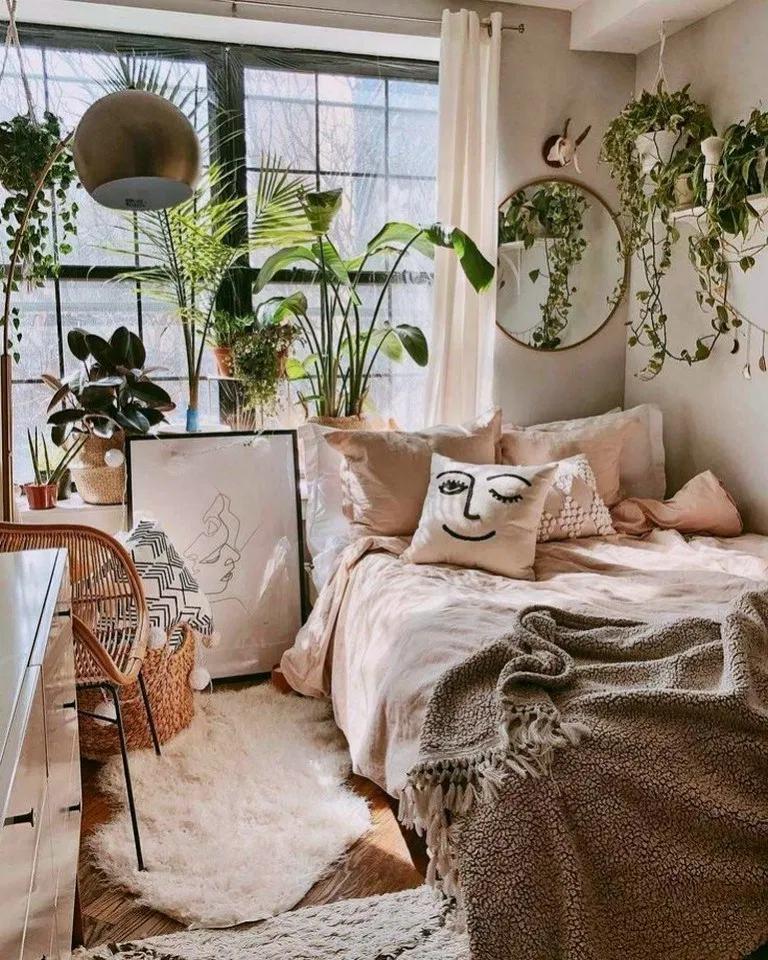 40+ Inspiring Vintage Bohemian Bedroom Decorations