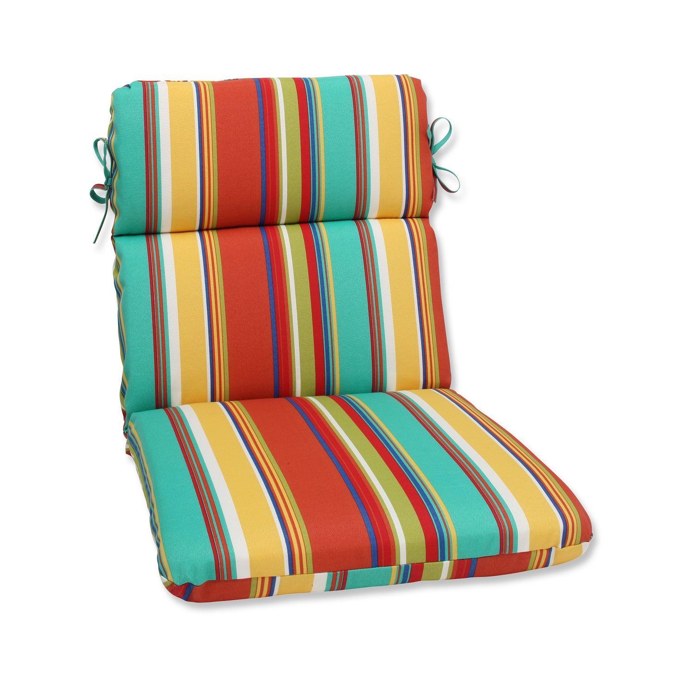 40.5″ Westport Spring Striped Outdoor Patio Chair Cushion – 32589238