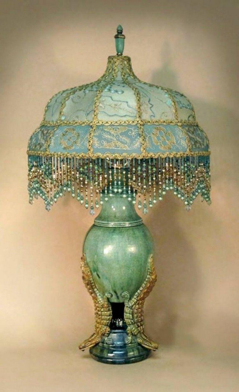 41+ Cool Vintage Victorian Lamp Shades Ideas Bedroom