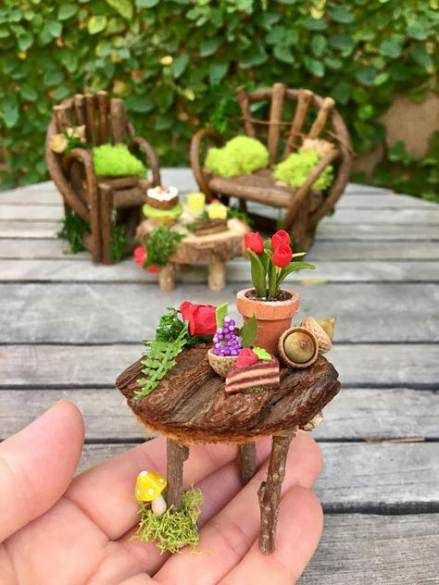 45 New Ideas For Garden Furniture Sets Fairy Houses
