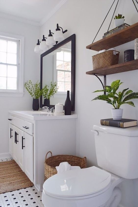 45 Stunning Small Bathroom Makeovers Ideas