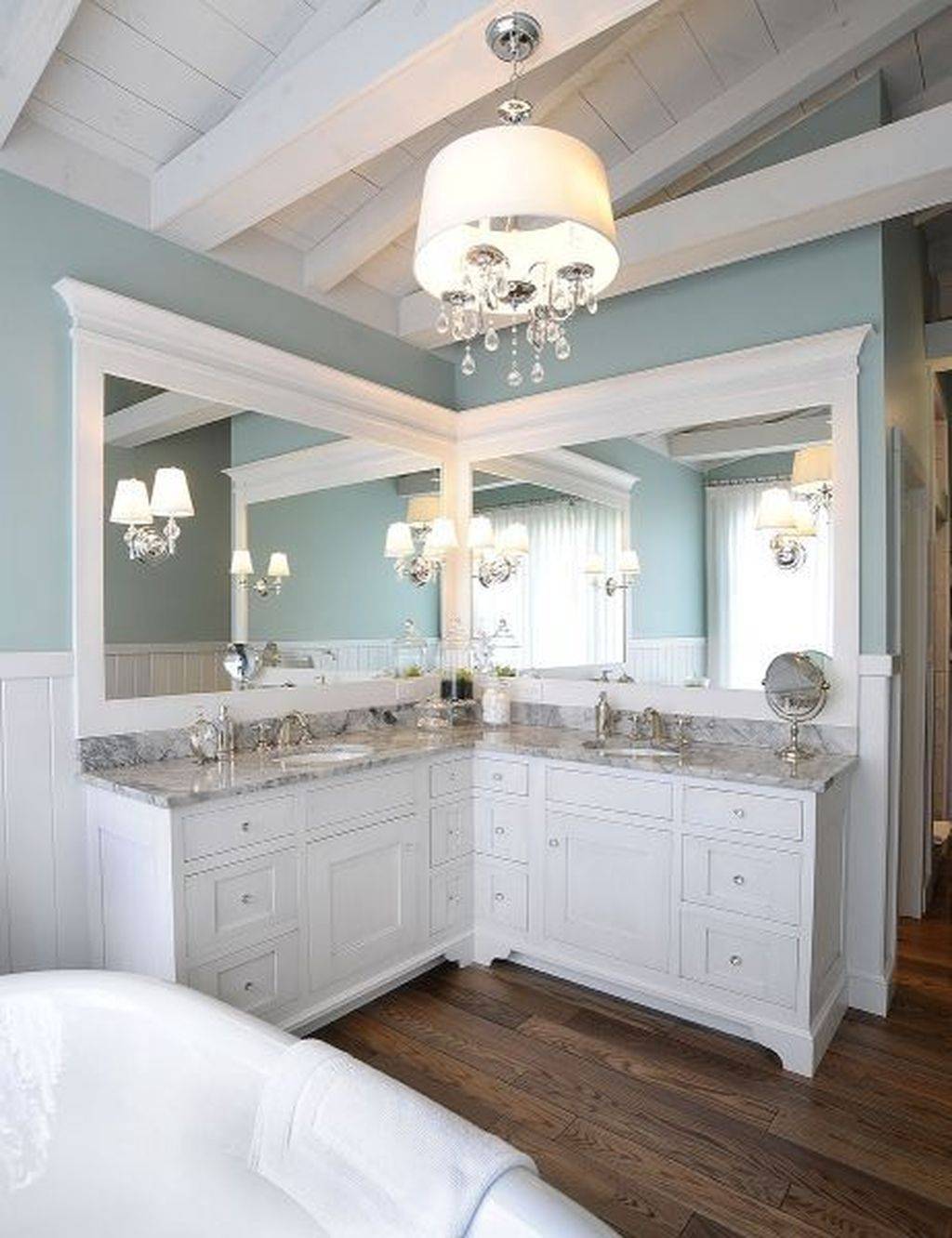 46 Awesome Bathroom Vanity Mirror Design Ideas – HOMYFEED