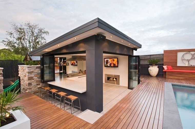 47 Modern Outdoor Bar To Upgrade Your Outdoor Space – Homiku.com