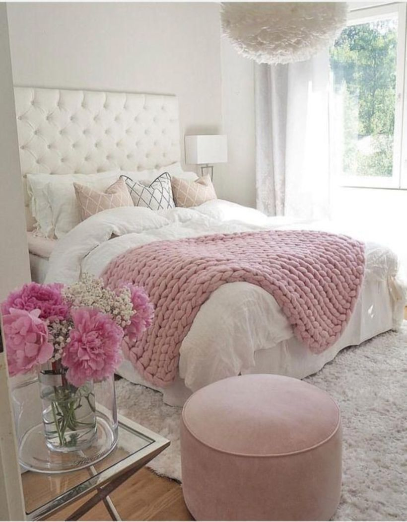 47 Unique Bedroom Decor Ideas With Pink And Grey Color