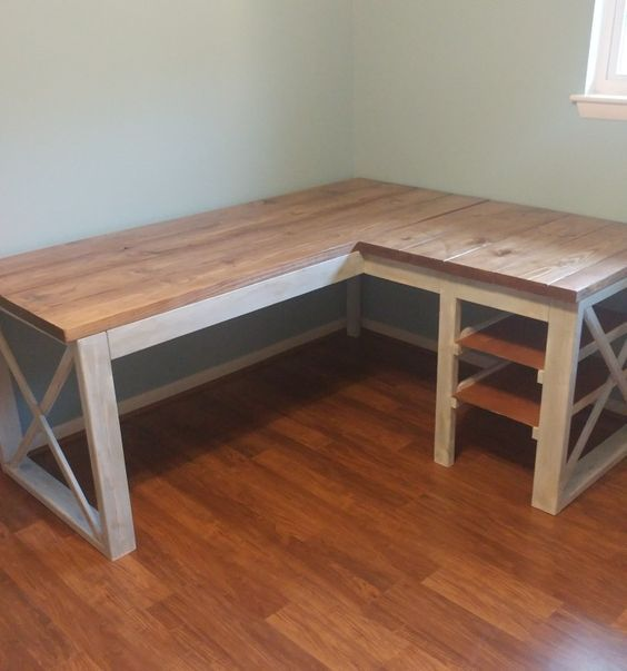 47 Wooden Desk Handmade DIY That Will Make Your Home Look Fabulous #desk #furnit…
