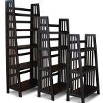 48 Inch Modern Black Bookshelf - Varsity