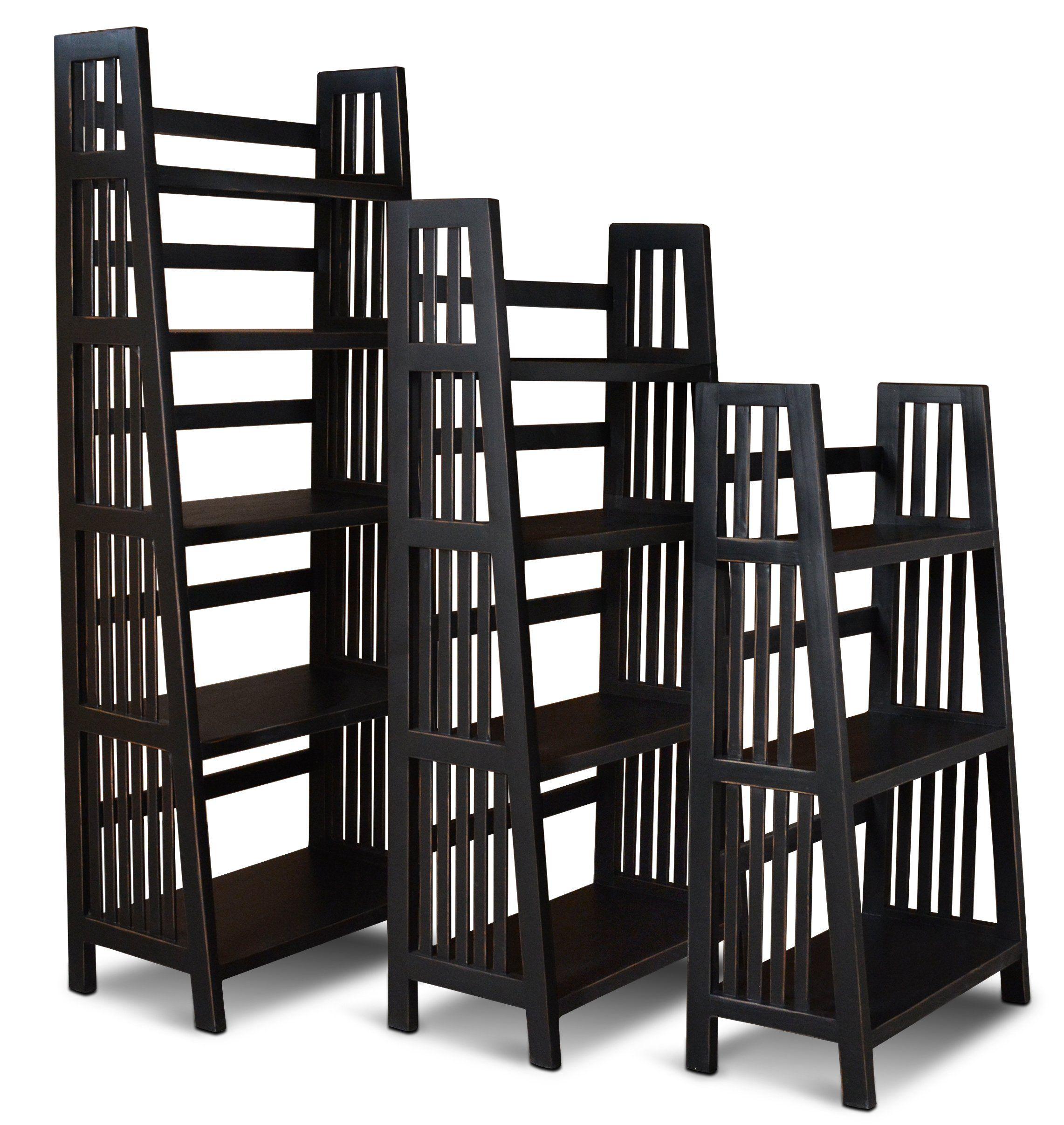 48 Inch Modern Black Bookshelf – Varsity