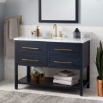 "48"" Robertson Mahogany Console Vanity for Undermount Sink - Midnight Navy Blue"