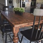 49 Splendid Farmhouse Table Ideas For Dining Room - pickndecor.com/design