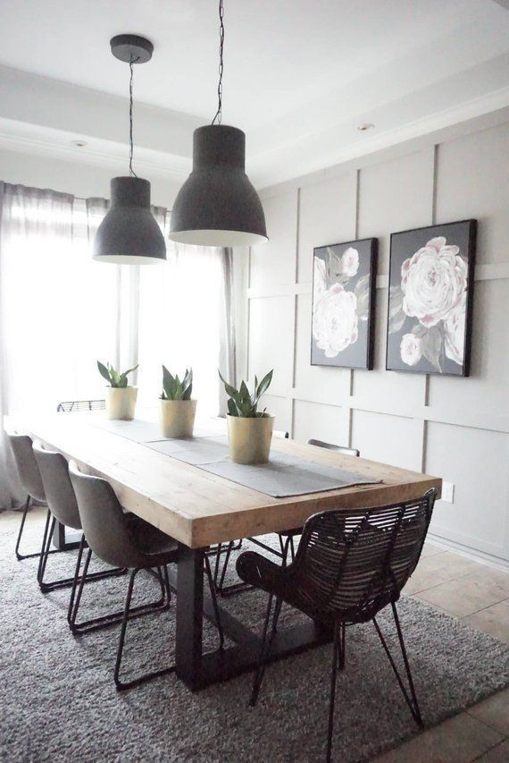 49 Splendid Farmhouse Table Ideas For Dining Room