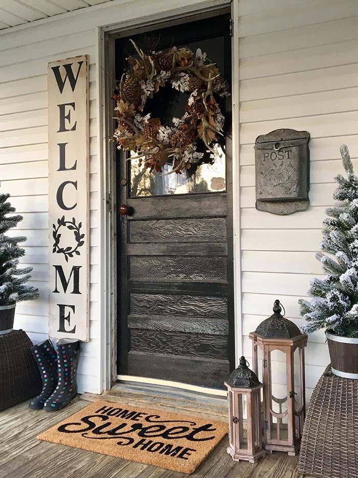 50+ Fantastic Rustic Farmhouse Porch Decor Ideas