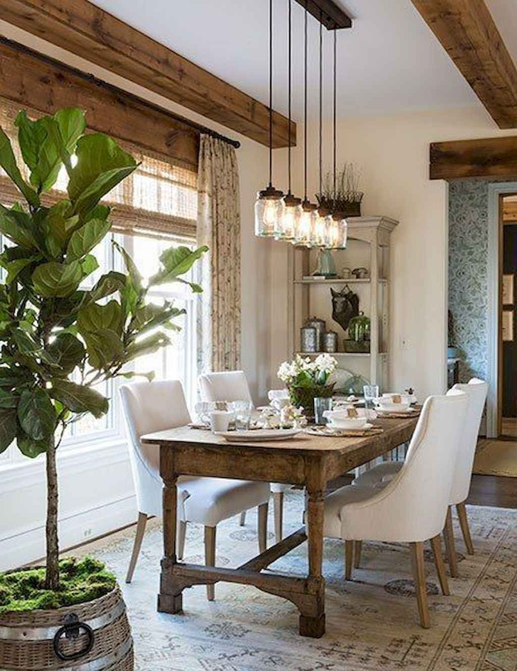 50 Rustic Farmhouse Dining Room Table Design Ideas