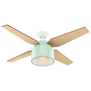 52″ Cranbrook 4 Blade Ceiling Fan with Remote, Light Kit Included | Joss & Main