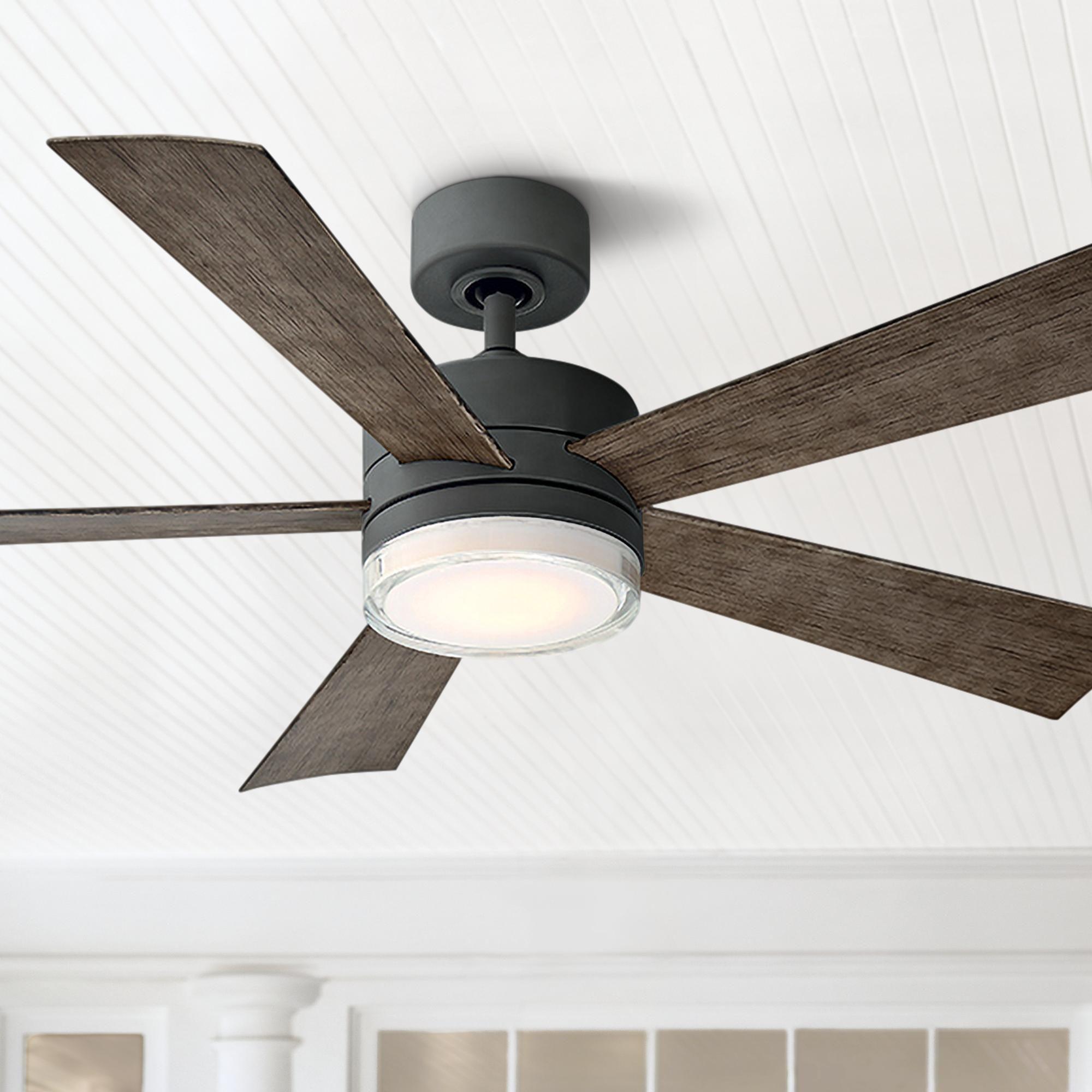 52 Inch Modern Forms Wynd Graphite Led Wet Ceiling Fan | brandowstore.com