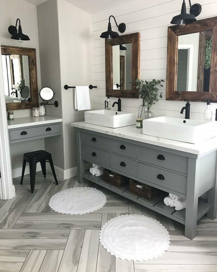 53 Cozy Farmhouse Master Bathroom Remodel Ideas – DECOONA