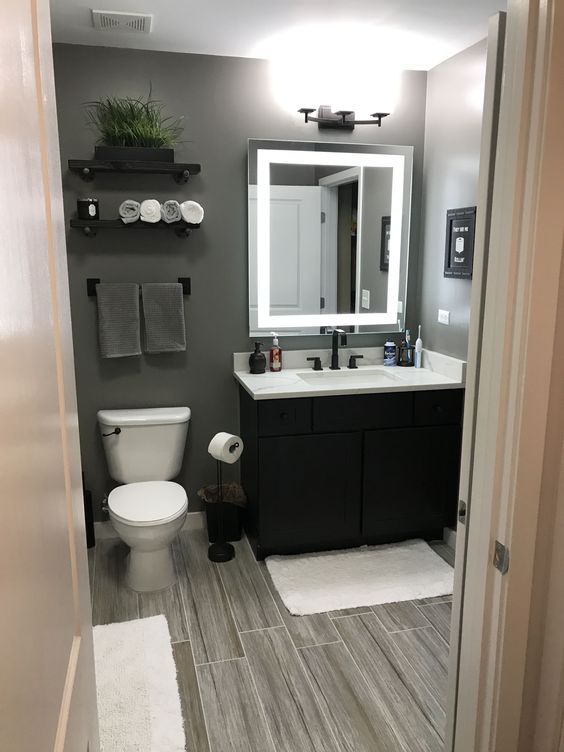 55 Awesome Gray Decorating Ideas For Your Small Bathroom on Budget – Page 33 of 55 – VimDecor