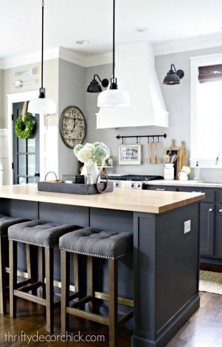 63+  Ideas kitchen cabinets blue gray bar stools