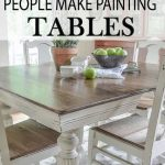 7 Common Mistakes Made Painting Kitchen Tables - Painted Furniture Ideas