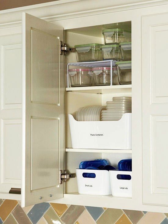 7 Tricks for Taming Your Cabinet of Food Storage Containers