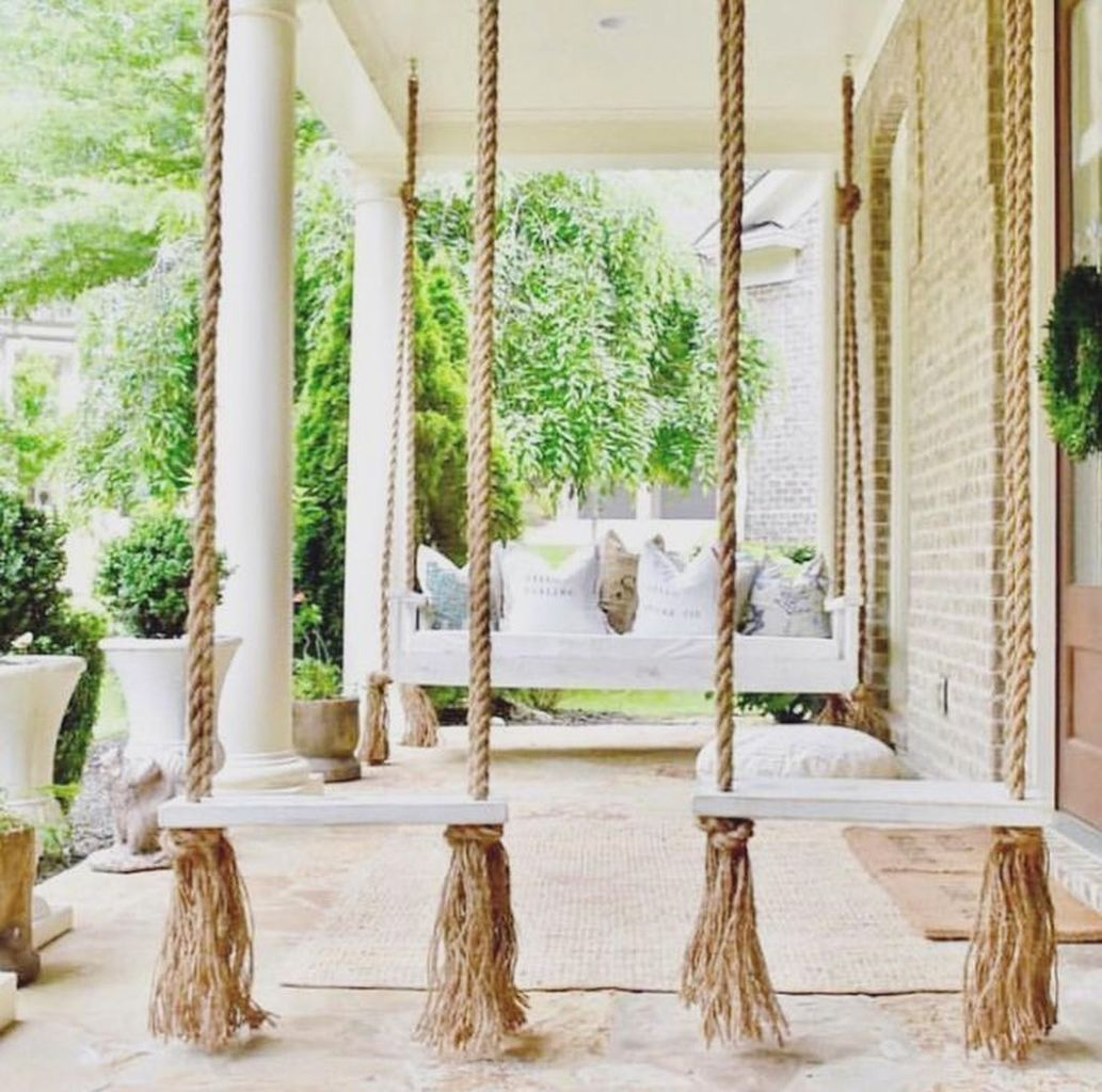 75 Inspiring Farmhouse Porch Swing Outdoor Ideas – https://pickndecor.com/interior