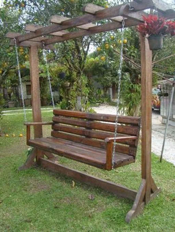 75 Pretty Awesome Garden Swing Seats Ideas for Backyard Relaxing