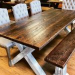 8′ Farm Style Bench – A Frame Base