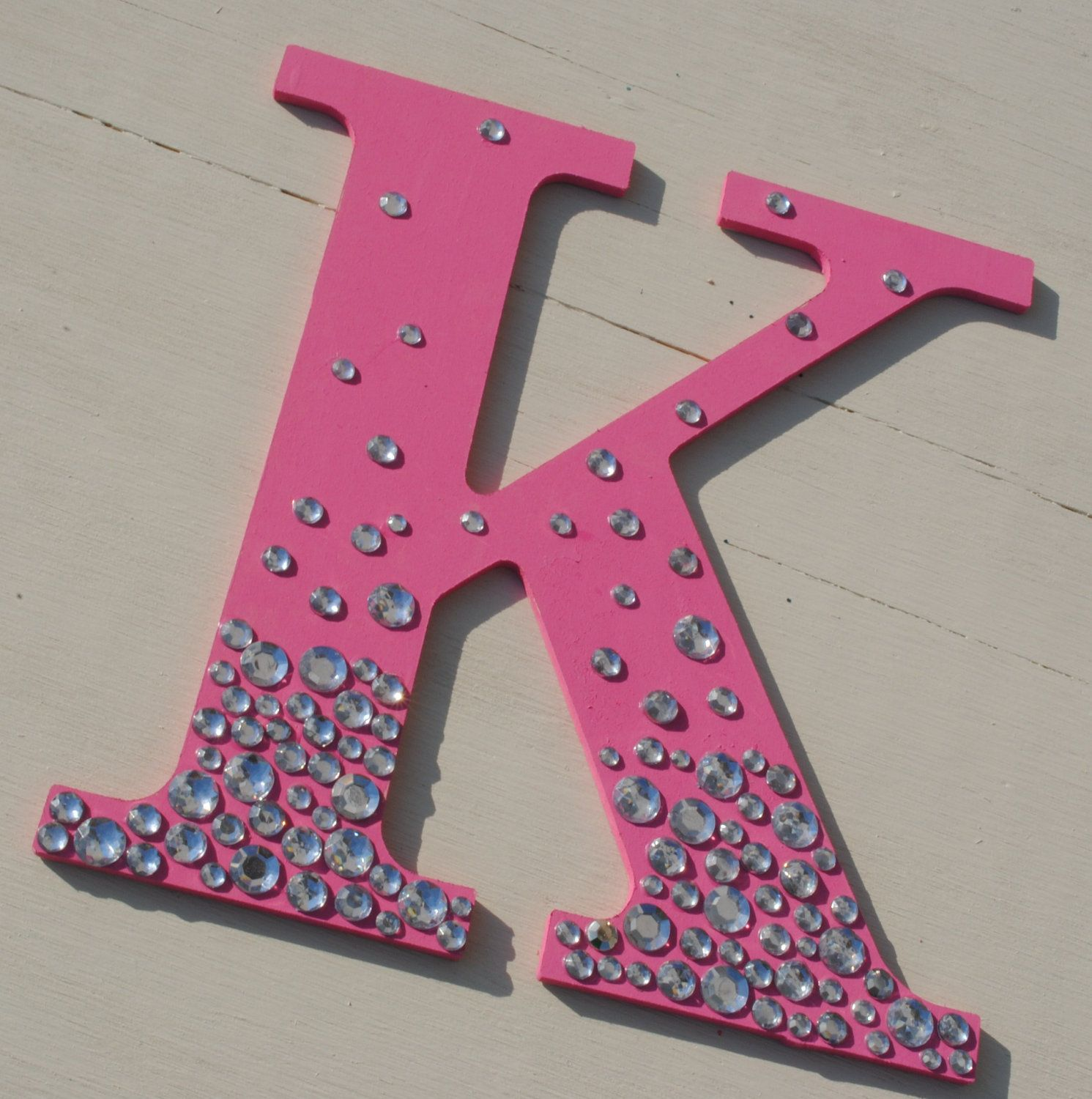 9″ Hot Pink Bling Sparkle Wall Letters