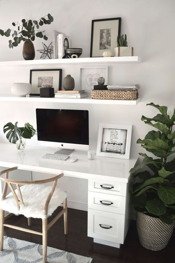91 Beautiful and Subtle Home Office Design Ideas – Page 39 of 91 – Veguci