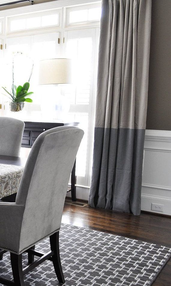 96″L Striped Drapery Panel – custom curtains – 28 color options