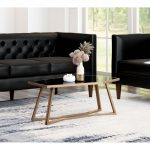 A11537 - Geo Coffee Table Black & Gold- Abstract angles give this table a beauti...