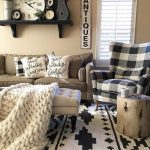 "ANTIQUE FARMHOUSE on Instagram: ""#📷 @desertdecor What's got gorgeous style, beautiful black and white detailing, and comfy-cozy vibes too? This amazing living space! We…"""