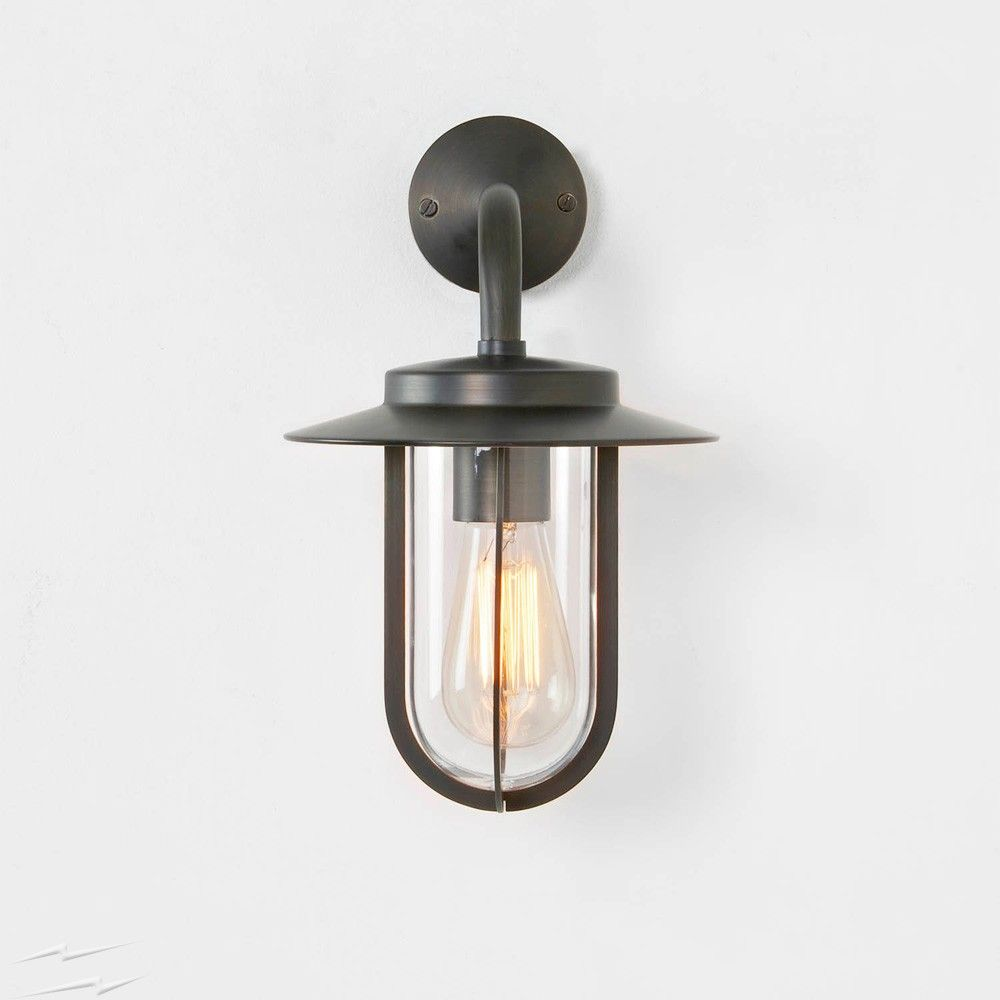 AX8216 – Montparnasse Outdoor Wall Light in Bronze with Clear Shade IP44 E27 Lamp Traditional Astro 1096009