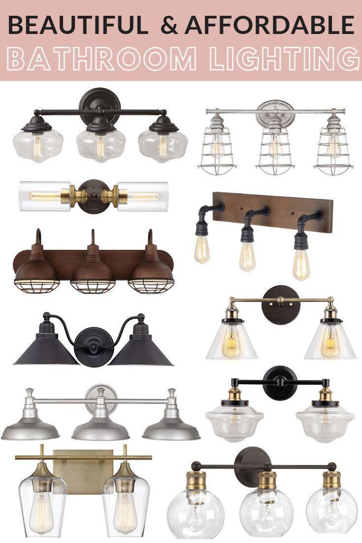 Affordable Farmhouse Style Bathroom Lighting – Maebells