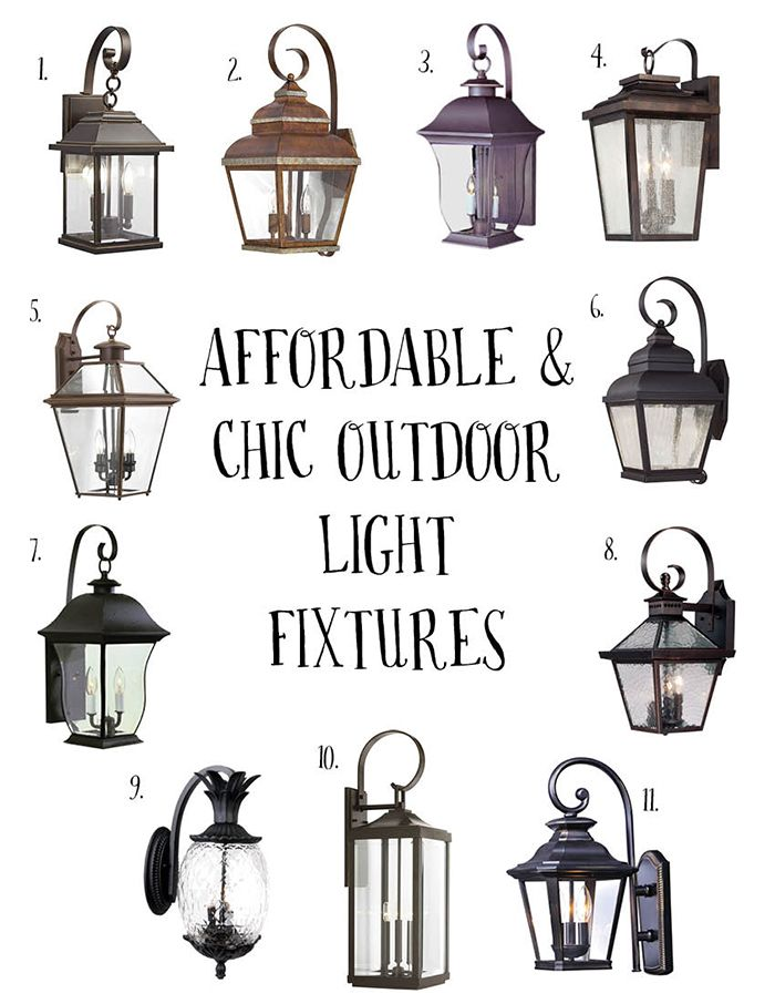 Affordable and Chic Outdoor Light Fixtures