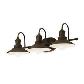 Allen + roth Hainsbrook 3-Light Bronze Traditional Vanity Light at Lowes.com