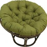 Amazing offer on Blazing Needles Solid Outdoor Spun Polyester Papasan Cushion, 52 , Aqua Blue online - Perfectfurniture
