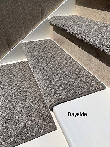 Amazon.com: Oak Valley Designs Carpet Stair Treads – Style: Bayside Charm (35″ (Single), Silver Birch): Kitchen & Dining