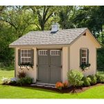 Amish Cedar A-frame Shed with Full Length Porch, Kit - choose size