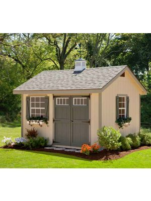 Amish Cedar A-frame Shed with Full Length Porch, Kit – choose size