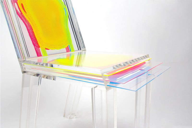 An Acrylic Chair Customized With Printed Layers – Design Milk