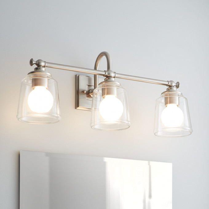 Antonio 3-Light Vanity Light – Clear Glass