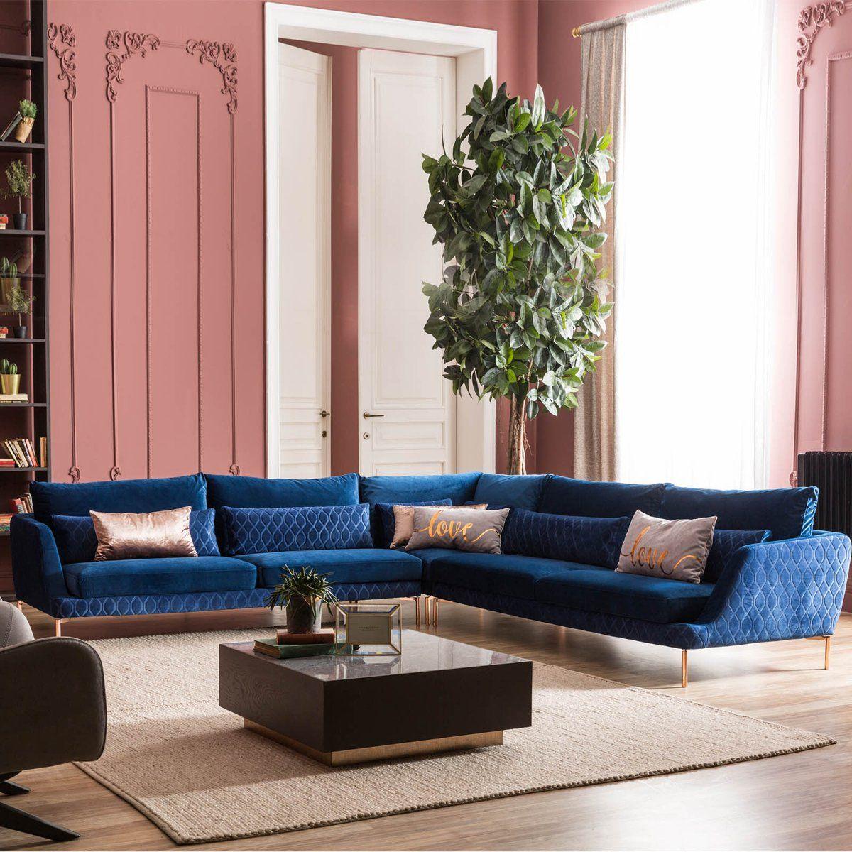 Anzio Corner  Sofa Set ANZEO028 CAPTOWN C-45