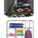 Armoires and Wardrobes 103430: 69 Portable Closet Storage Organizer Clothes Ward