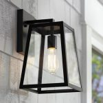 "Arrington 13"" High Glass and Mystic Black Outdoor Wall Light - #6C758 