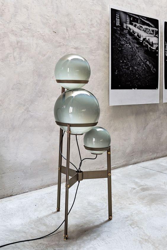 Art Glass triple heads floor lamp