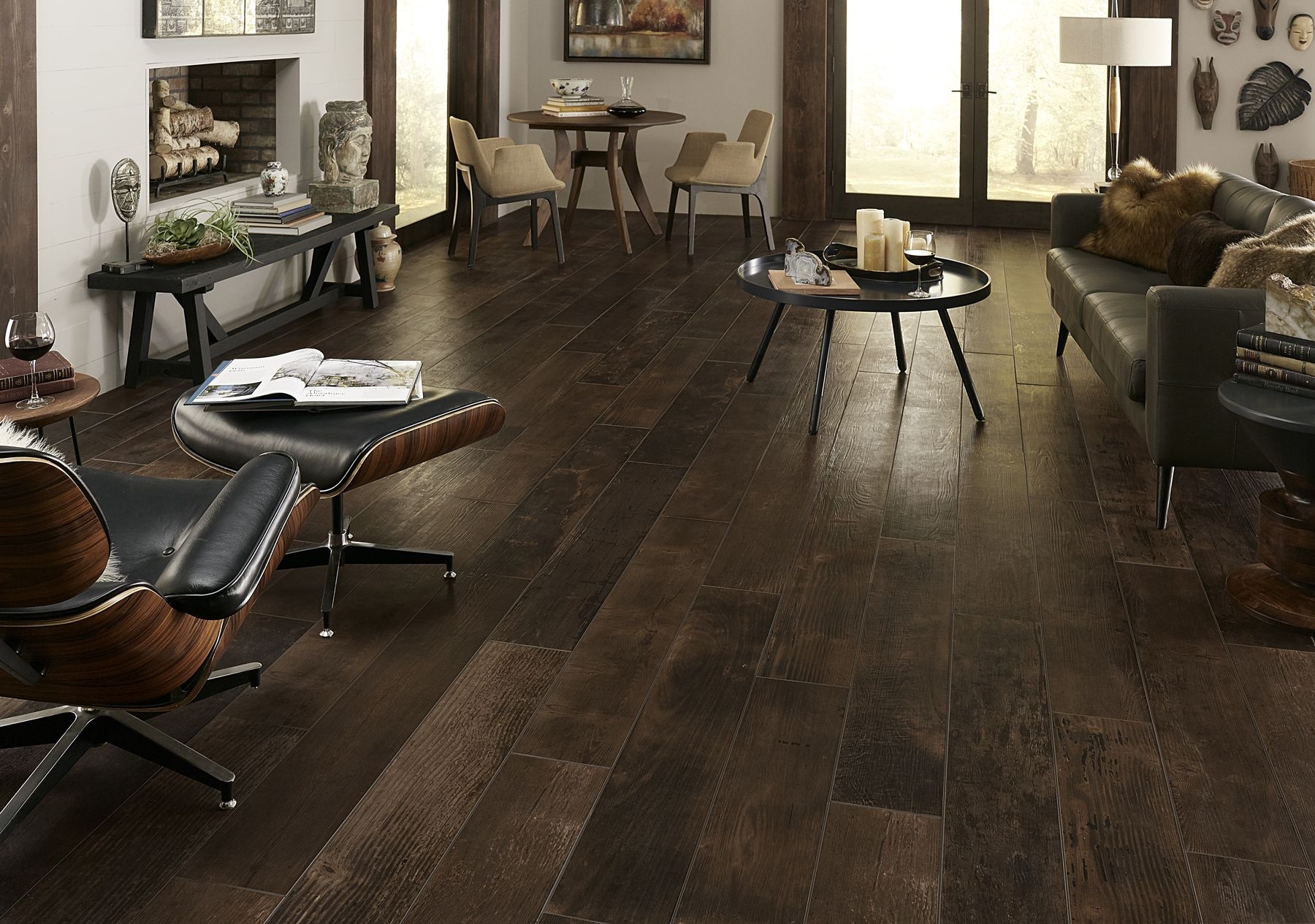 Avella Smoked Whiskey Oak Porcelain Tile